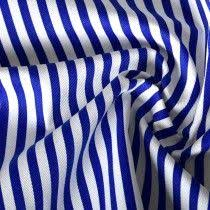 Candy Stripe Print <b>Baby Cotton Twill Fabric</b> 4 Pale Blue White ...