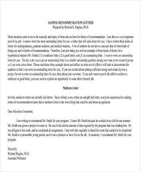 9 Work Recommendation Letter Template 10 Free Word Pdf Format