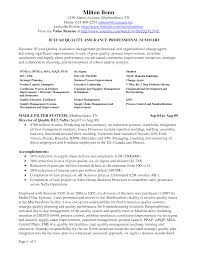 Food Quality Manager Sample Resume Quality Resume Examples Examples Of Resumes 11