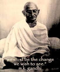 Image of Gandhi with inspirational quote