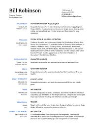 Bill Robinson Visual Development Portfolio Resume