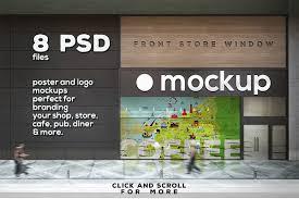 Black shop sign free mockup to present your signage design. Poster Logo Mock Up Vol 5 Shop Psd Mockup 30219 Free T Shirt Mockups High Quality For Clothing Brands Print Shops