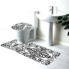 contour toilet rug contour toilet rug whole bathroom non slip set black white mix bath contour toilet rug