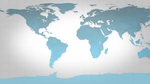 Map Of The World Background Blue Map Of The World Stock Footage Video 100 Royalty Free
