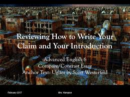 the essential guide to a compare and contrast essay introduction  introduction adv cc uglies 2017