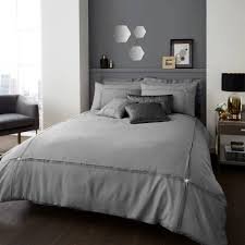 aura luxury duvet cover set designer bedding set grey silver