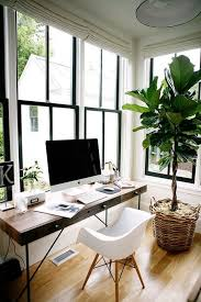 lovely home office setup. Casual Home Office Inspiration \u2014 Love Those Windows And That Lovely, Large Plant. Lovely Setup