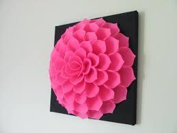 agrandir on diy fabric flower wall art with felt flower wall art pattern sophia flower fabric flower wall