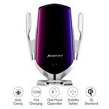 Hinyx Wireless <b>Car</b> Charger 2 in 1 <b>Qi 10W Fast</b> Wireless Auto ...