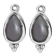 pandora magic mystery with grey moonstone compose earring charms retired only 2 pairs left