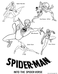 Crayola spiderverse coloring book pages, 1 full color spiderman poster, 28 pages, gifts for teens & adults. Print Spider Man Into The Spider Verse Movie Coloring Pages Spiderman Coloring Spider Coloring Page Coloring Pages