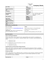 How To Write A Job Description Template 002 Blank Job Description Template Pdf Form Sample