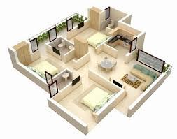 modern 3d bungalow house floor plan beautiful 3 bedroom house plan design modern bungalow floor plan