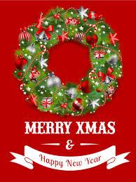 Santa Dachshund Merry Christmas Card Birthday Greeting Cards By