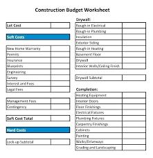 Commercial Construction Budget Template Home Building Budget Template Velorunfestival Com