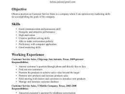 Resume Example Sample Resume Skills For Customer Service Resume