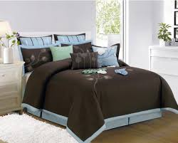 ... Brown And Blue Bedding Piece Queen Macarthur Coffee Brown Comforter Set  Jpg Decorate My House Sets