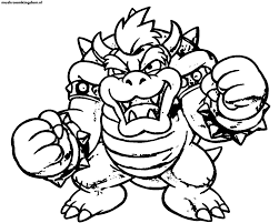 Small Picture Perfect Bowser Coloring Pages 24 For Your Seasonal Colouring Pages