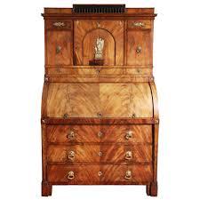 antique roll top secretary desk cabinet baltic empire mahogany