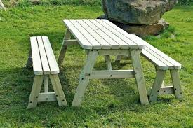 details about v toria rounded picnic table bench set 3ft to 8ft garden patio furniture