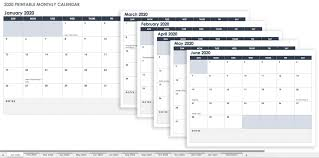 Free Excell Calendar Printable Spreadsheets Blank Free Excel Calendar Templates