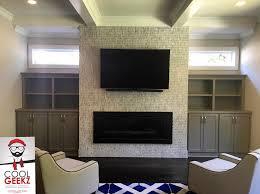 4k tv mounting on fireplace w soundbar