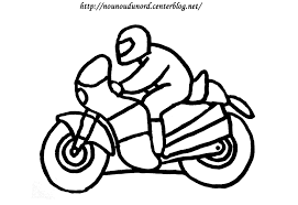 Dessins Gratuits Colorier Coloriage Moto Enfant Imprimer