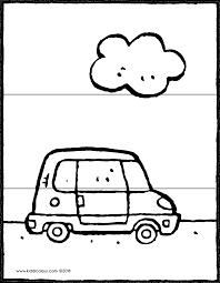 Kleine Auto Met Wolk Puzzel 3 Stuks Kiddicolour