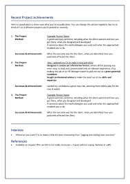 What Makes The Perfect Freelance Cv Hasson Associates