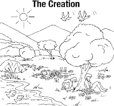 creation coloring sheet creation coloring pages for kinder on days of creation pictures