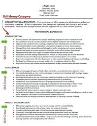 Qualification Resume Sample Resume Skills And Abilities Resume