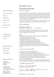 Printable Document Control Resume ...