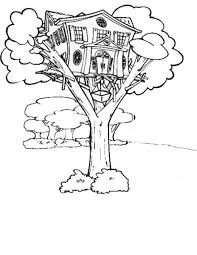 Small Picture Treehouse with Elevator Coloring Page Color Luna