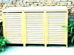 outdoor garbage can storage plans trash bin cabinet outside