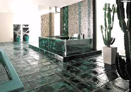 Mosaik Fliesen Badezimmer Keramik Kakteen Gruen Badwanne Luxus Avec