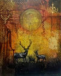 my deer painting by artist sheetal singh acrylic canvas