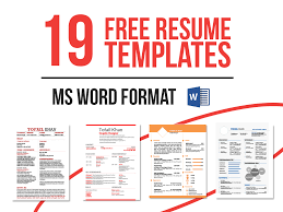 resume formats free download word format template creative resume word template free download free