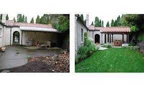 Small Picture SHWA Before and After Spanish Mission Style Garden Design