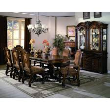 dining room table with matching hutch. 5 piece dining set - traditional neo renaissance room table with matching hutch