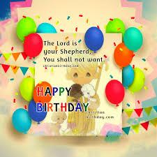 Birthday Bible Quotes Impressive Birthday Greetings With Nice Christian Card Christian Birthday