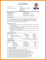 10 Biodata Sample Format Formal Resume Template Resume Samples