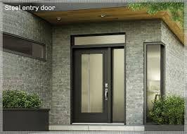 steel entry doors exterior doors modern black and fiberglass door full glass corner window grey