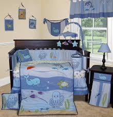 baby room design idea featured beach theme crib bedding set with sea animal print