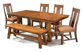 solid knotty alder wood timberline 100 extension table chair set in saddle finish
