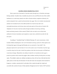 unitessay n animal adaptation daniela lin p 6 n animals adaptation essay unit 2 native species have