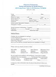 medical patient registration form endodontics patient registration princeton nj