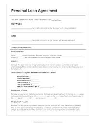 Loan Agreement Form Sample Personal Poporon Co