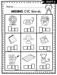 Printable phonics worksheets for kids. Cvc Words And Word Families Kindergarten Phonics Unit Centers Worksheets