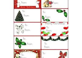 Christmas Tag Template Merry Christmas Sticker Template Present Labels Template Free