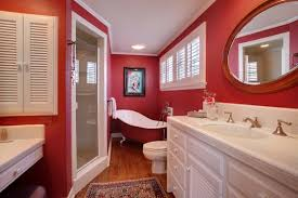 Image Modern Bathroom Redbathroomdesignideas3 Home Design Cool And Bold Red Bathroom Design Ideas Home Design